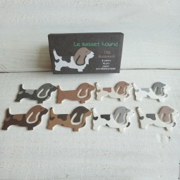巴吉度獵犬-環保紙書籤