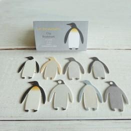 阿德利企鵝-國王企鵝-環保紙書籤