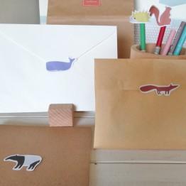 手帳動物貼紙-不殘膠貼紙